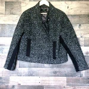 J.Crew cropped  wool blend coat sz 14 women's